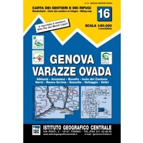 Wandelkaart Blad 16 - Genova 1:50.000