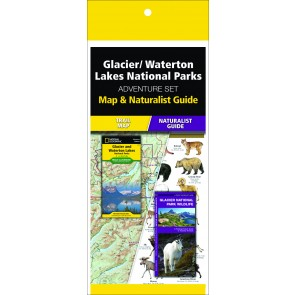 Glacier/Waterton Lakes National Park Adventure Set (Map & Naturalist Guide)