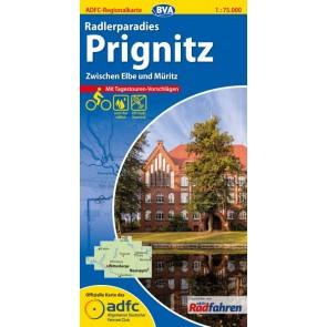 BVA-ADFC Regionalkarte Prignitz 1:75.000 (2015 plast)
