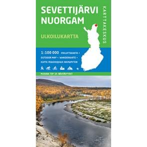 Wandelkaart-Outdoor Map Sevettijärvi Nuorgam 1:100.000 (2014)