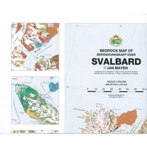 Bedrock Map of Svalbard and Jan Mayen (Berggrunnskart) 1:750.000