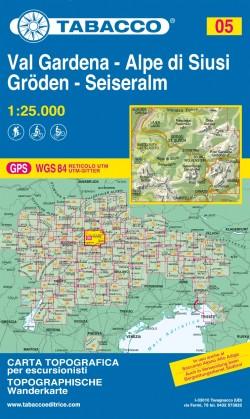 Wandelkaart Dolomiten Blad 05 Val Gardena-Alpe di Siusi 1:25.000 (GPS) 2019