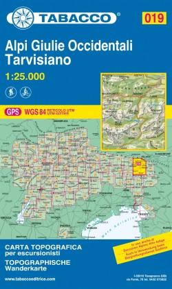 Wandelkaart Julische Alpen Blad 019 - Alpi Giulie Occidentale Tarvisiano (GPS)