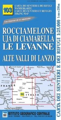 Wandelkaart Italiaanse Alpen Blad 103 - Rocciamelone 1:25.000