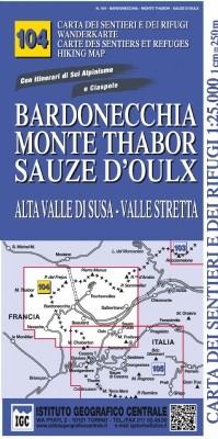 Wandelkaart Italiaanse Alpen Blad 104 - Bardonecchia 1:25.000