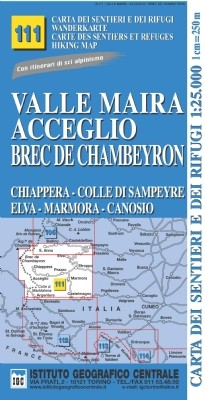 Wandelkaart Italiaanse Alpen Blad 111 Valle Maira 1:25.000