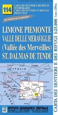 Wandelkaart Italiaanse Alpen Blad 114 - Limone Piemonte 1:25.000