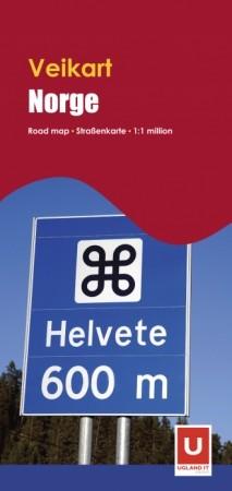 Wegenkaart/Veikart Norge 1:1m (2010 ed.)