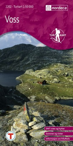 Wandelkaart Noorwegen Turkart Voss 1:50.000 (2008)