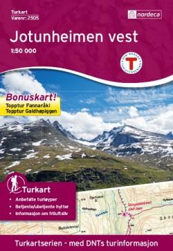 Wandelkaart Turkart Jotunheimen Vest 1:50.000 (2018)
