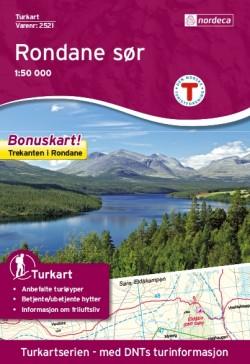 Wandelkaart/Turkart Rondane Zuid 1:50.000 (2016)