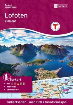 Wandelkaart 2549 - Turkart Lofoten 1:100.000 (2017) Tyvek