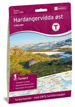 Wandelkaart-Turkart Hardangervidda Oost 1:100.000 (2018)