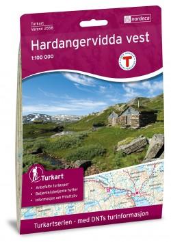 Wandelkaart-Turkart Hardangervidda Vest 1:100.000 (2018)