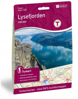 Wandelkaart Turkart Lysefjorden 1:50.000 (2018)