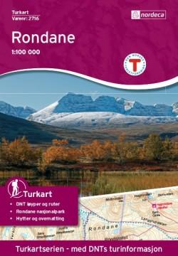 Wandelkaart Noorwegen Turkart Rondane 1:100.000 (2018)
