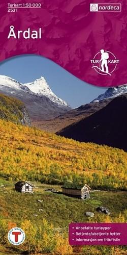Wandelkaart Turkart Årdal 1:50.000 (2007)
