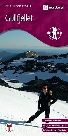 Wandelkaart Turkart Gullfjellet 1:25.000 (2008)