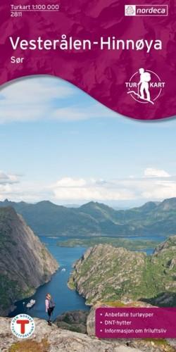 Wandelkaart / Turkart Vesterålen-Hinnøya Sør 1:50.000 (2014)
