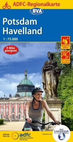Fietskaart BVA-ADFC Regionalkarte Potsdam Havelland 1:75.000 8.A 2020