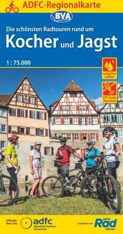 Fietskaart ADFC Regionalkarte Kocher und Jagst 1:75.000 (2019)
