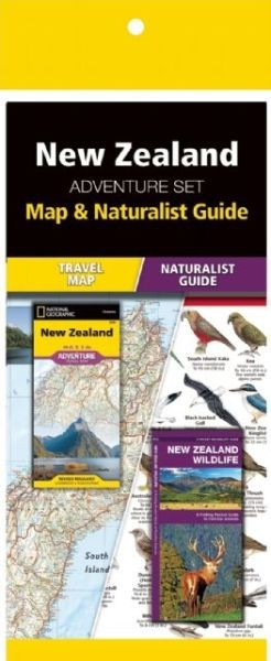 New Zealand National Park Adventure Set (Map & Naturalist Guide)
