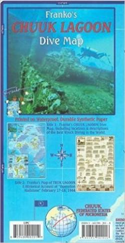 Chuuk (Truk) Lagoon Dive Map