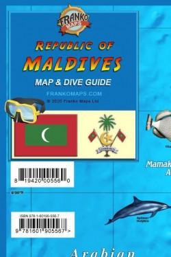 Republic of Maldives Map & Dive Guide