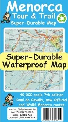 Wandelkaart Menorca 1:40.000 Tour & Trail Map Super-Durable 7th ed. 2018