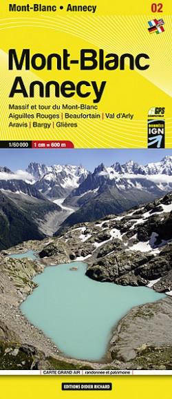 Wandelkaart Carte 02 Mont-Blanc / Annecy 1:60.000