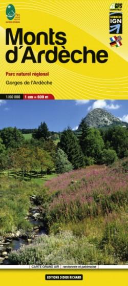 Wandelkaart Carte 11 Monts d'Ardeche 1:60.000