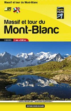 Wandelkaart Carte Massif et tour du Mont-Blanc (poche) 1:50.000