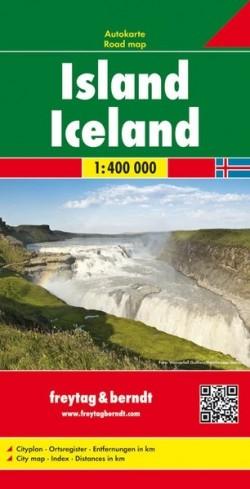 Toeristenkaart Iceland-IJsland 1:400.000