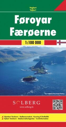 Toeristenkaart Føroyar - Færøerne - Faroer 1:100.000