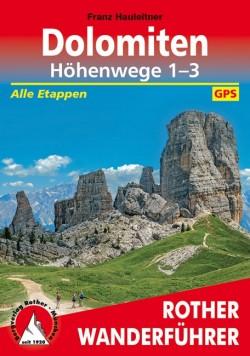 Rother Wanderführer Dolomiten Höhenwege 1-3   (14.A 2018)