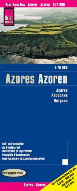 Wegenkaart Azores-Azoren 1:70.000  5.A 2020