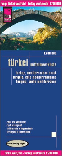 LK Turkey/mediterranean coast 1:700 000 4.A 2012