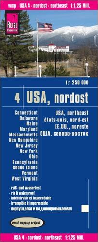 Wegenkaart USA-4 Nordost 1:1,25m. 2.A 2014