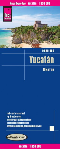 Wegenkaart Yucatan 1:650.000 4.A 2017