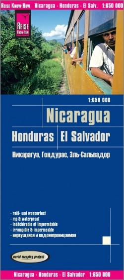 Wegenkaart LK Nicaragua, Honduras, El Salvador 1:650.000 4.A 2018