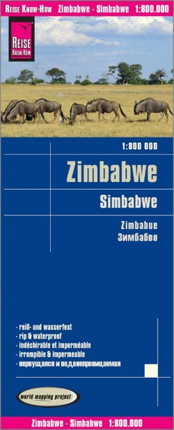Wegenkaart Simbabwe 1:800.000  3.A 2019