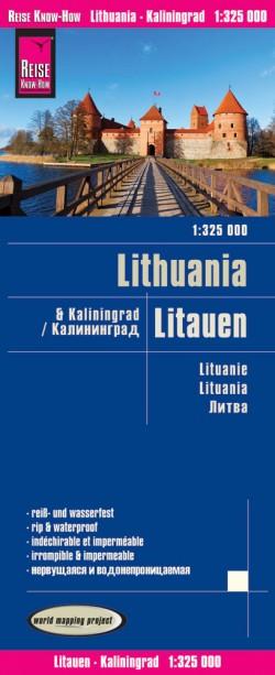 Wegenkaart Lithuania/Litauen & Kaliningrad 1:325.000 6.A 2019