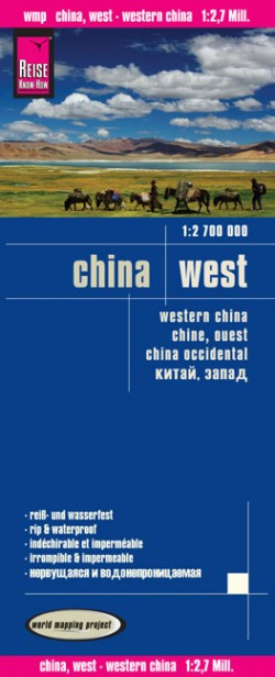 Wegenkaart West China 1:2.700.000 3.A 2014