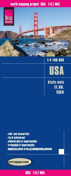 Landkaart USA 1:4,7m 2015