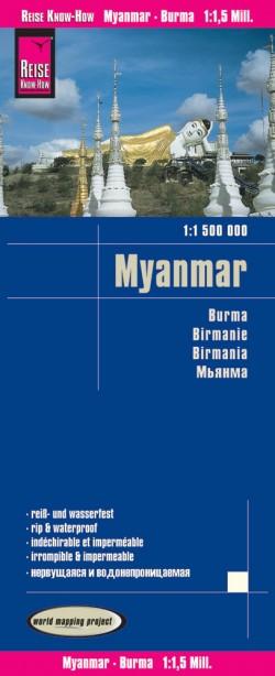 Wegenkaart Myanmar/Burma/Birma 1:1,5m  8.A 2017