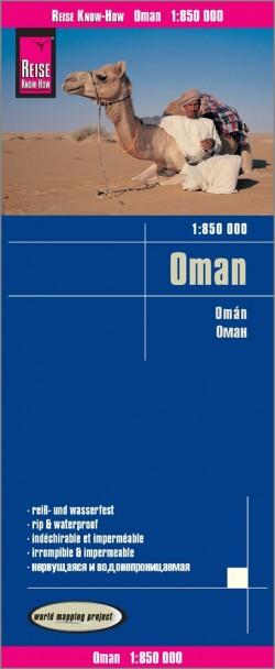 Wegenkaart Oman 1:850.000 10.A 2019