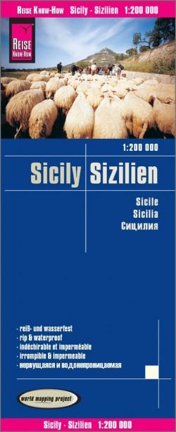 Landkaart Sicily   Sizilien 1:200.000 5.A 2018