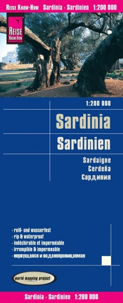 Wegenkaart Sardinien 1:200.000  7.A 2017