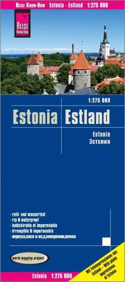 Wegenkaart Estonia-Estland 1:275.000  5.A 2018