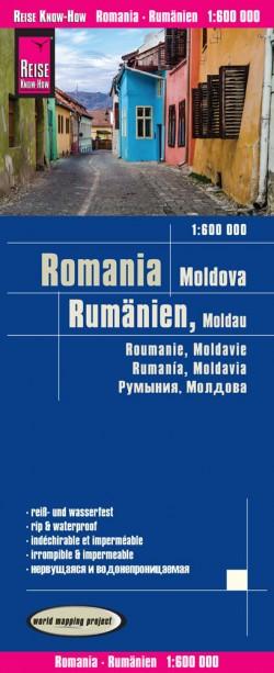 Landkaart Romania/Rumänien/Moldavien 1:600.000  9.A 2019